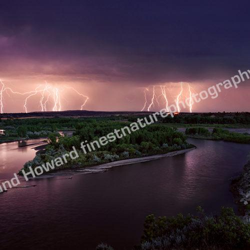 Yellowstone River Lightning